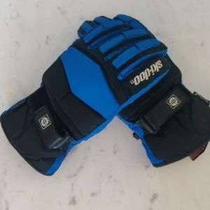 Skidoo blue and black snowgloves